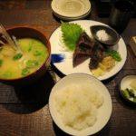 塩で食べる鰹のたたき定食【龍神丸】