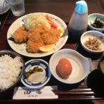 生玉子付きチキンかつ定食【四篭 赤坂見附店】