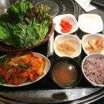 野菜たっぷり豚キムチサンパ定食【やさい村大地 本店】